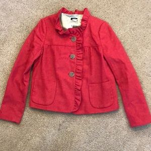 J Crew Fiona Herringbone cropped tweed jacket